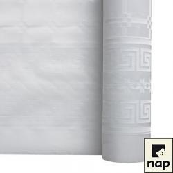 NAPPE DAMASSEE 1.20MX10M BLANC