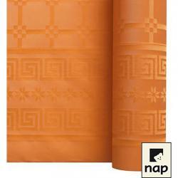 NAPPE DAMASSEE 1.20MX25M MANDARINE