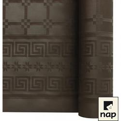 NAPPE DAMASSEE 1.20MX6M CHOCOLAT