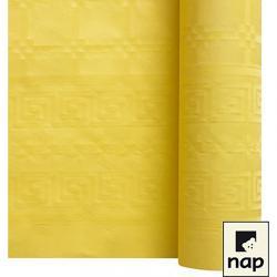 NAPPE DAMASSEE 1.20MX6M JAUNE